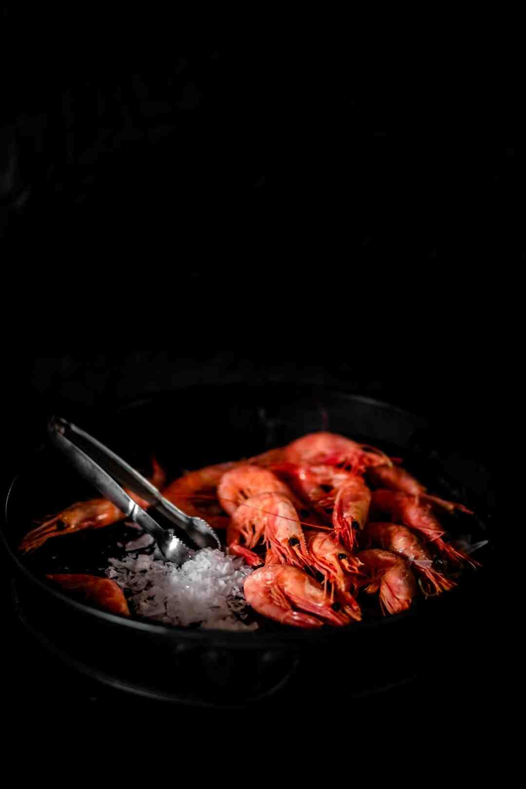 Comment cuire des crevettes surgelées