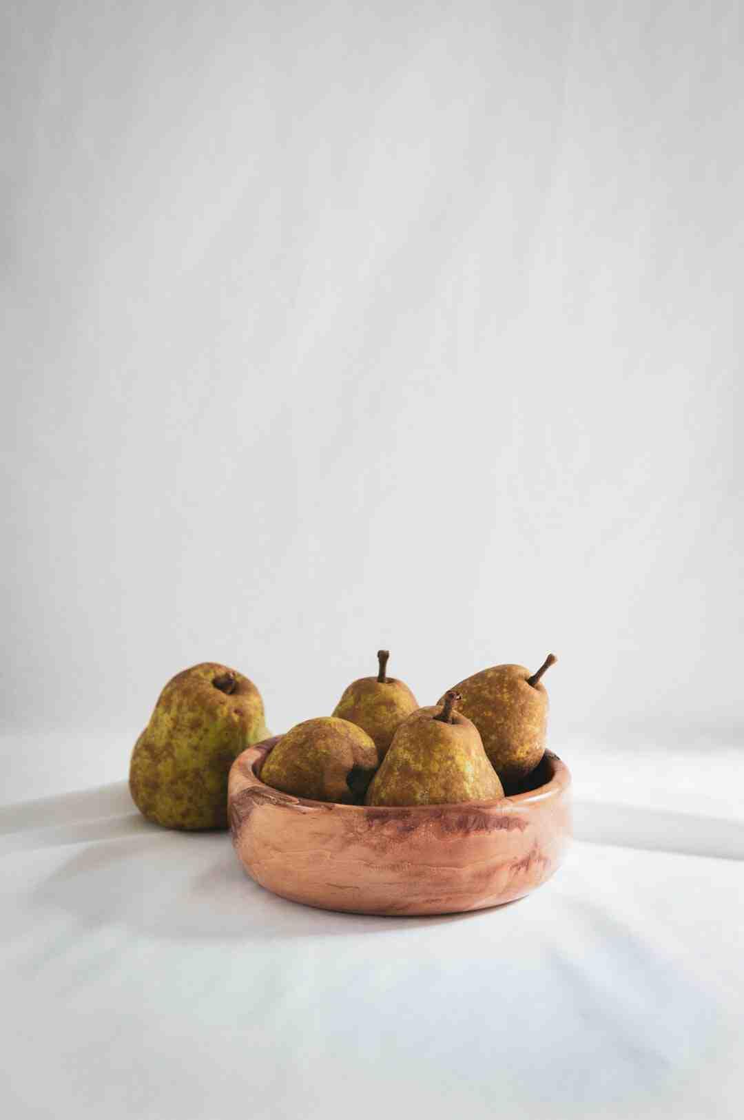 Quel fruit mélanger avec la poire ?