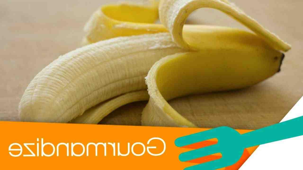 Comment éplucher une banane