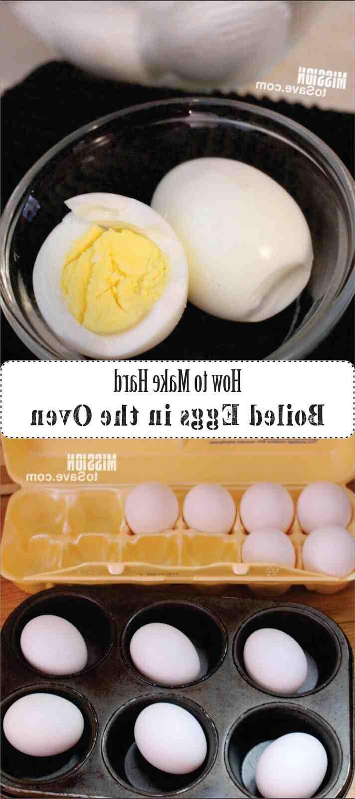 Comment faire des œufs durs au four