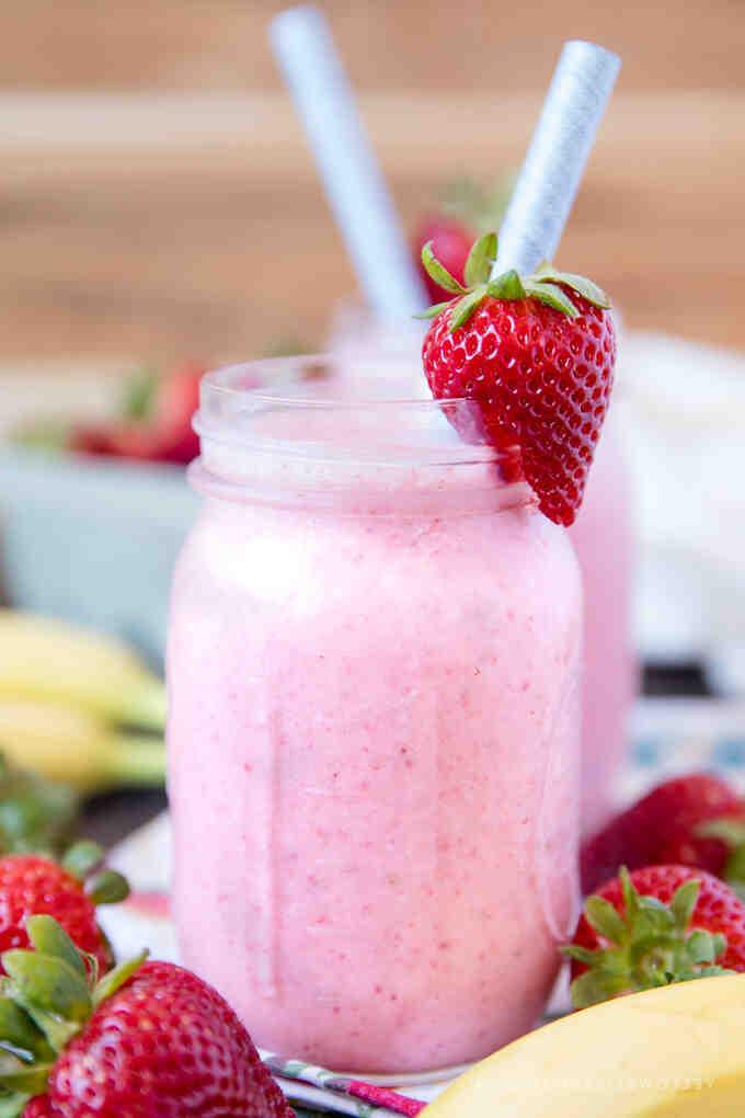 Comment faire un smoothie aux fraises et à la banane